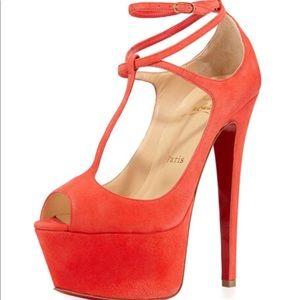 "Christian Louboutin ""Talitha"" 160mm Poppy heels 39"